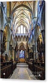 Salisbury Cathedral Acrylic Print by Juli Scalzi