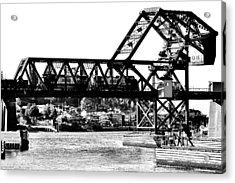 Salmon Bay Bridge Acrylic Print by Benjamin Yeager