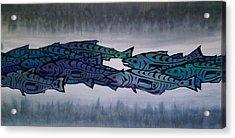 Salmon Passing Acrylic Print by Carolyn Doe