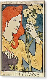 Salon Des Cent Acrylic Print by Eugene Grasset