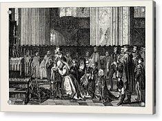 Salon Of 1855. Belgian School Acrylic Print by Leys, Jan August Hendrik, Baron Leys (1815-1869), Belgian
