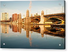 Salt-and-pepper Bridge Acrylic Print by Lee Costa