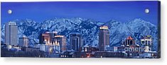 Salt Lake City Skyline Acrylic Print by Brian Jannsen
