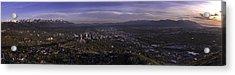 Salt Lake Valley Acrylic Print by Chad Dutson