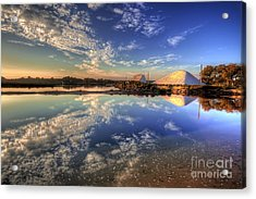 Salt Pans Of Ludo Acrylic Print by English Landscapes