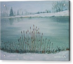 Saltville Pond Acrylic Print by Julie Brugh Riffey