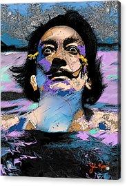 Salvador Dali Acrylic Print by John Keaton