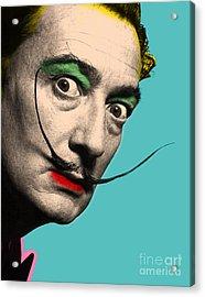 Salvador Dali Acrylic Print by Mark Ashkenazi