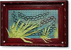 Salvaged Spawning Salmon Acrylic Print by Crush Creations