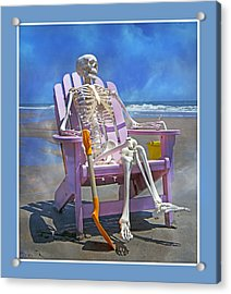 Sam Enjoys The Beach -- Again Acrylic Print by Betsy Knapp