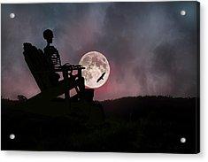 Sam Reasons With The Moon Acrylic Print by Betsy C Knapp