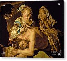 Samson And Delilah Acrylic Print by Matthias Stomer