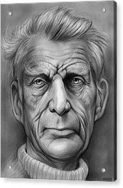 Samuel Beckett Acrylic Print by Greg Joens