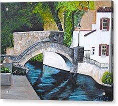 San Antonio River Walk Acrylic Print by Melissa Torres