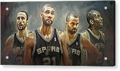 San Antonio Spurs Artwork Acrylic Print by Sheraz A