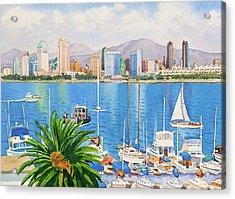 San Diego Fantasy Acrylic Print by Mary Helmreich