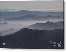 San Diego Hills In Fog And Haze Acrylic Print by Darleen Stry