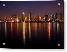 San Diego Skyline Acrylic Print by Peter Tellone