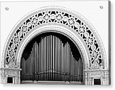 San Diego Spreckels Organ Acrylic Print by Christine Till