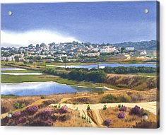 San Elijo And Manchester Ave Acrylic Print by Mary Helmreich