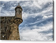 San Felipe Watchtower On A Stormy Day Acrylic Print by Andres Leon