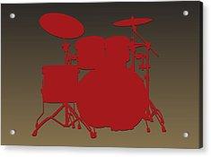 San Francisco 49ers Drum Set Acrylic Print by Joe Hamilton
