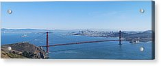 San Francisco And The Golden Gate Bridge Acrylic Print by Twenty Two North Photography