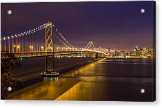 San Francisco Bay Bridge Acrylic Print by Pierre Leclerc Photography