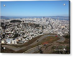San Francisco California From Twin Peaks 5d28053 Acrylic Print by Wingsdomain Art and Photography