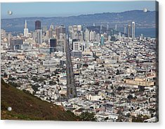 San Francisco California From Twin Peaks 5d28073 Acrylic Print by Wingsdomain Art and Photography