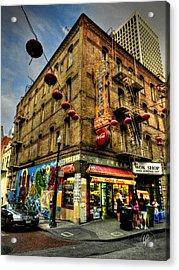 San Francisco - Chinatown 006 Acrylic Print by Lance Vaughn