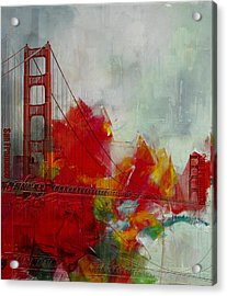 San Francisco City Collage Acrylic Print by Corporate Art Task Force