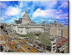 San Francisco City Hall 5d22507 Photoart Acrylic Print by Wingsdomain Art and Photography