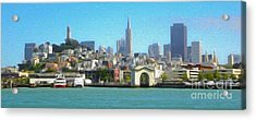 San Francisco - Cityscape - 01 Acrylic Print by Gregory Dyer