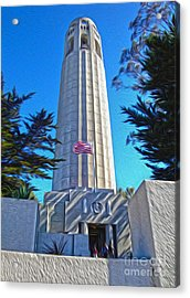 San Francisco - Coit Tower - 03 Acrylic Print by Gregory Dyer