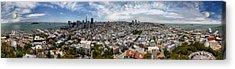 San Francisco Daytime Panoramic Acrylic Print by Adam Romanowicz