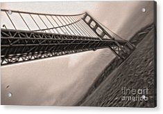 San Francisco - Golden Gate Bridge - 04 Acrylic Print by Gregory Dyer
