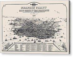 San Francisco Graphic Map 1875 Acrylic Print by Daniel Hagerman