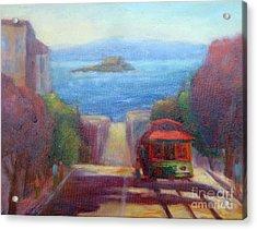 San Francisco Hills Acrylic Print by Carolyn Jarvis