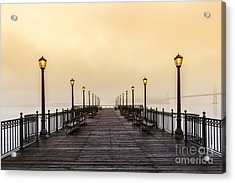 San Francisco Pier 5 Sunset Acrylic Print by Mel Ashar