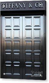 San Francisco Tiffany And Company Store Doors - 5d20561 Acrylic Print by Wingsdomain Art and Photography