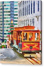 San Francisco Trams 6 Acrylic Print by Yury Malkov