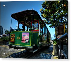 San Francisco Trolley 001 Acrylic Print by Lance Vaughn