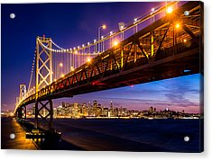 San Francisco - Under The Bay Bridge Acrylic Print by Alexis Birkill