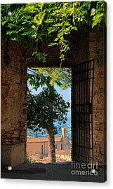 San Gimignano Door Acrylic Print by Inge Johnsson
