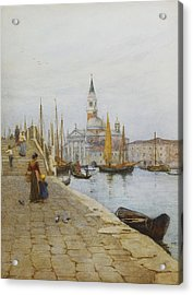 San Giorgio Maggiore From The Zattere Acrylic Print by Helen Allingham