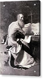 San Girolamo Acrylic Print by Giacomo Grosso