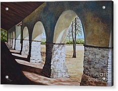 San Juan Bautista Mission Acrylic Print by Mary Rogers