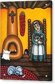 San Pascuals Nap Acrylic Print by Victoria De Almeida