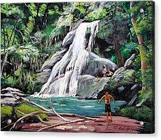 San Sebastian Waterfall Acrylic Print by Luis F Rodriguez